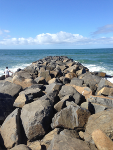 I scampered out to the end of this jetty during my post-race run.